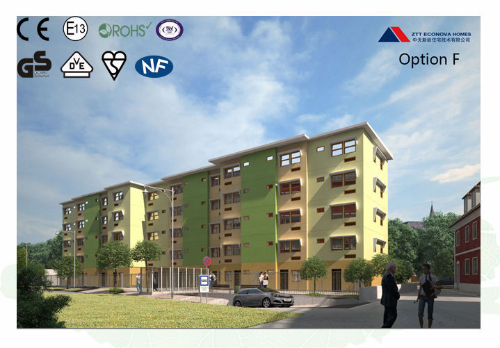 European standard certified prefabricated apartment with solar system
