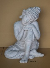 Customized handmade fiberglass resting buddha, resin sleeping buddha statue