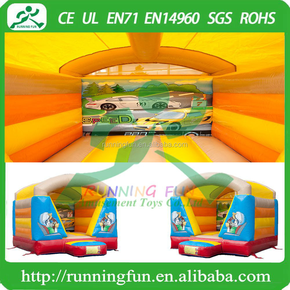 Indoor Mini Inflatable Auto Bouncy House With Roof