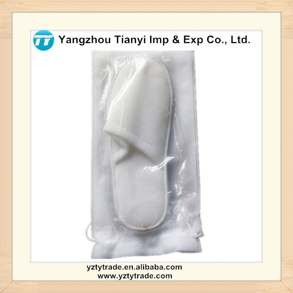 Hot Selling Dispoable Napping Cheap Hotel Slippers with Nonwoven bag