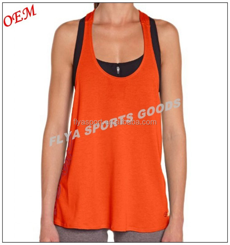 custom high quality sexy women singlet loose racerback top
