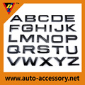 Custom 3d chrome logo sticker with letters & numbers