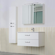 Factory made simple white bathroom cabinet