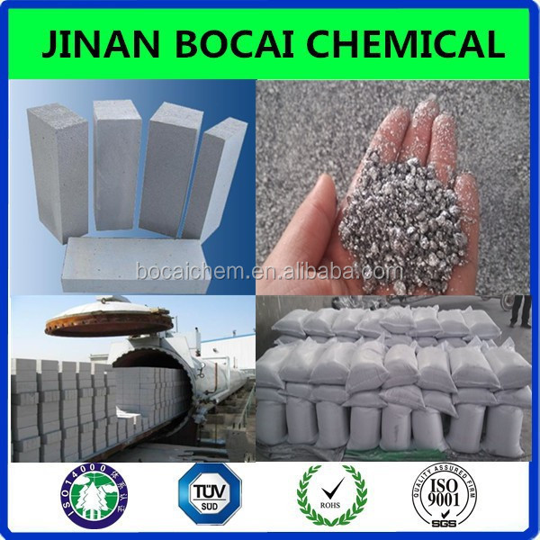 aac block raw material aluminium paste for light beton foaming