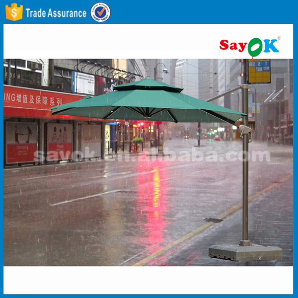 aluminium rst umbrella the oudoor large patio umbrella double layer with curtain for yard