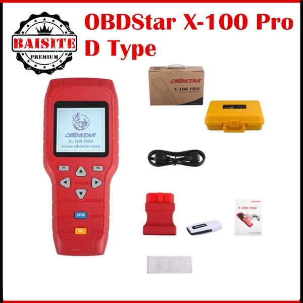 Hot Selling original OBDSRAT X 100 Pro X100 Auto Key Programmer D Type for Odometer and OBD Software key programmer