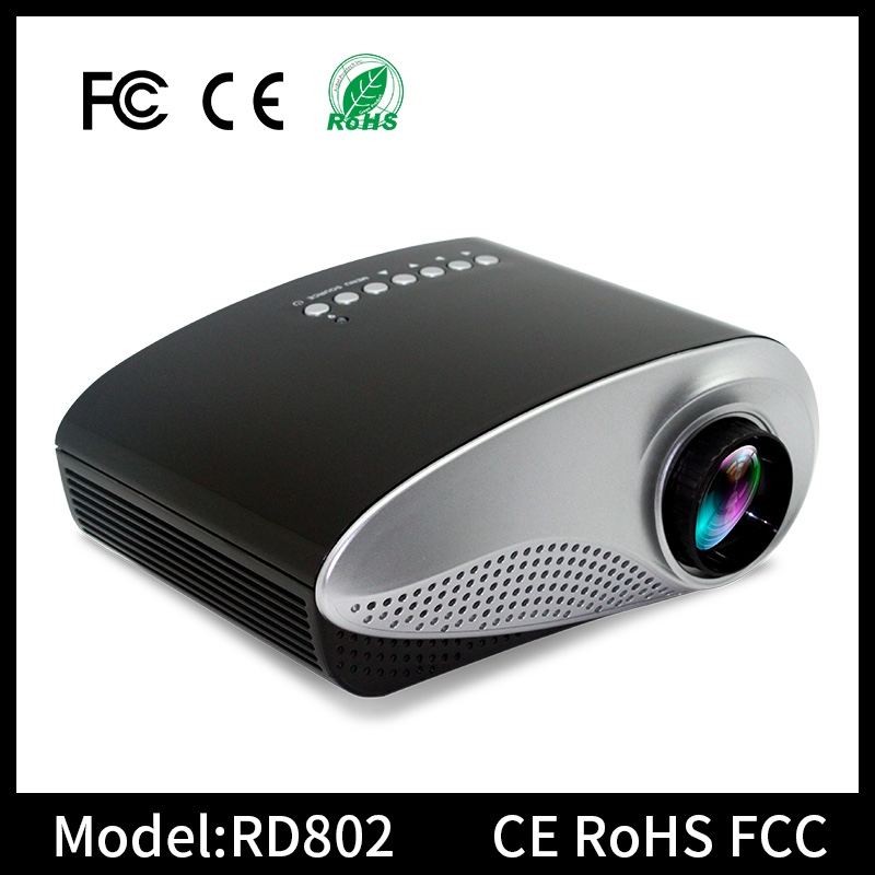 RD-802 portable 1080p video mini pocket lcd LED projector