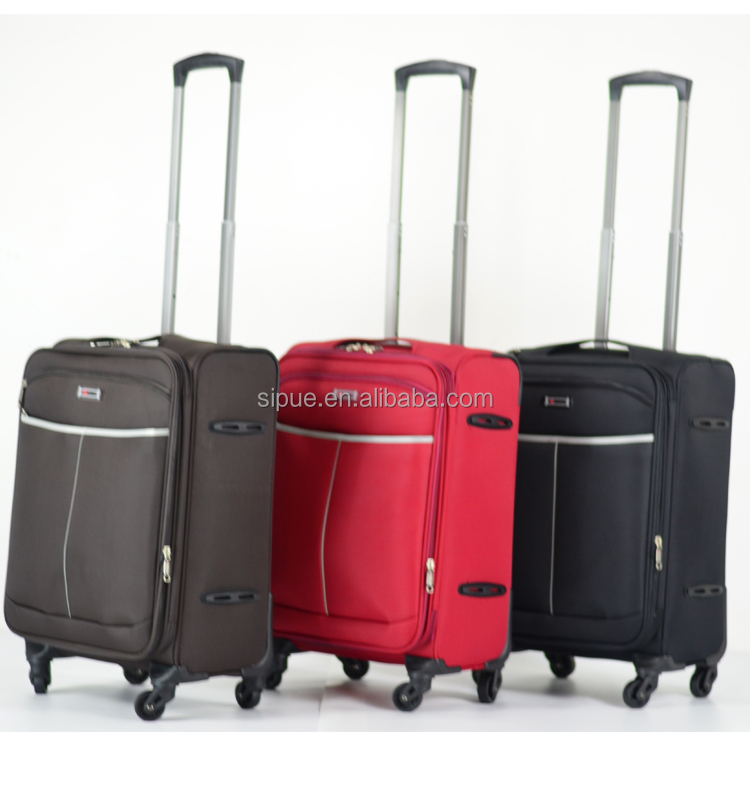 China supplier 3 piece set EVA luggage bag polyester travelmate suitcase (QS851)
