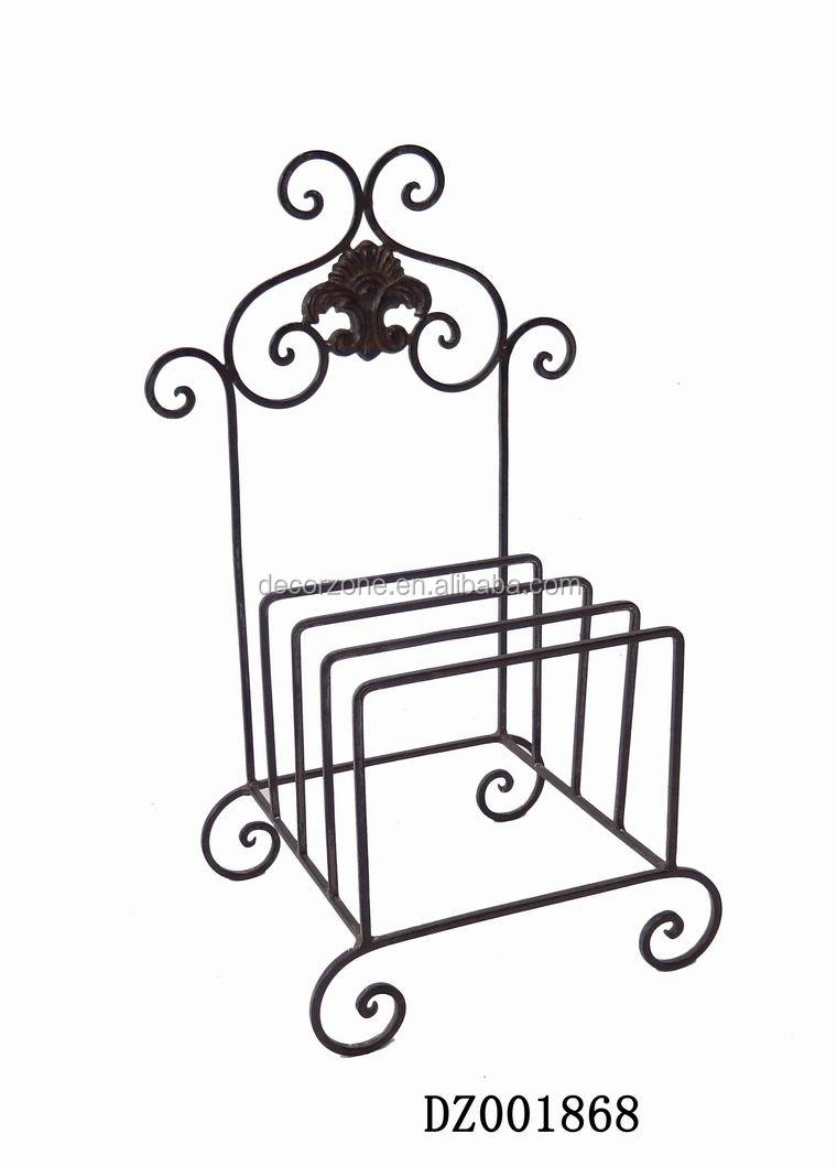 Metal Shabby Chic Dinner Plate Storage Rack