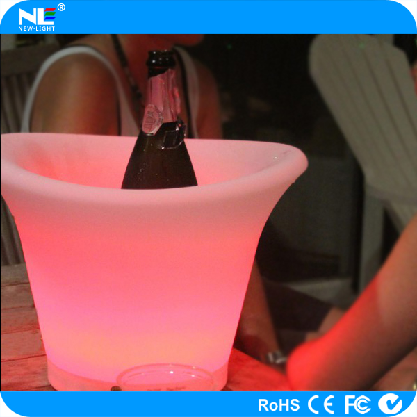 LED illuminated ice buckets/ Cheap plastic wine ice buckets for party/ night club