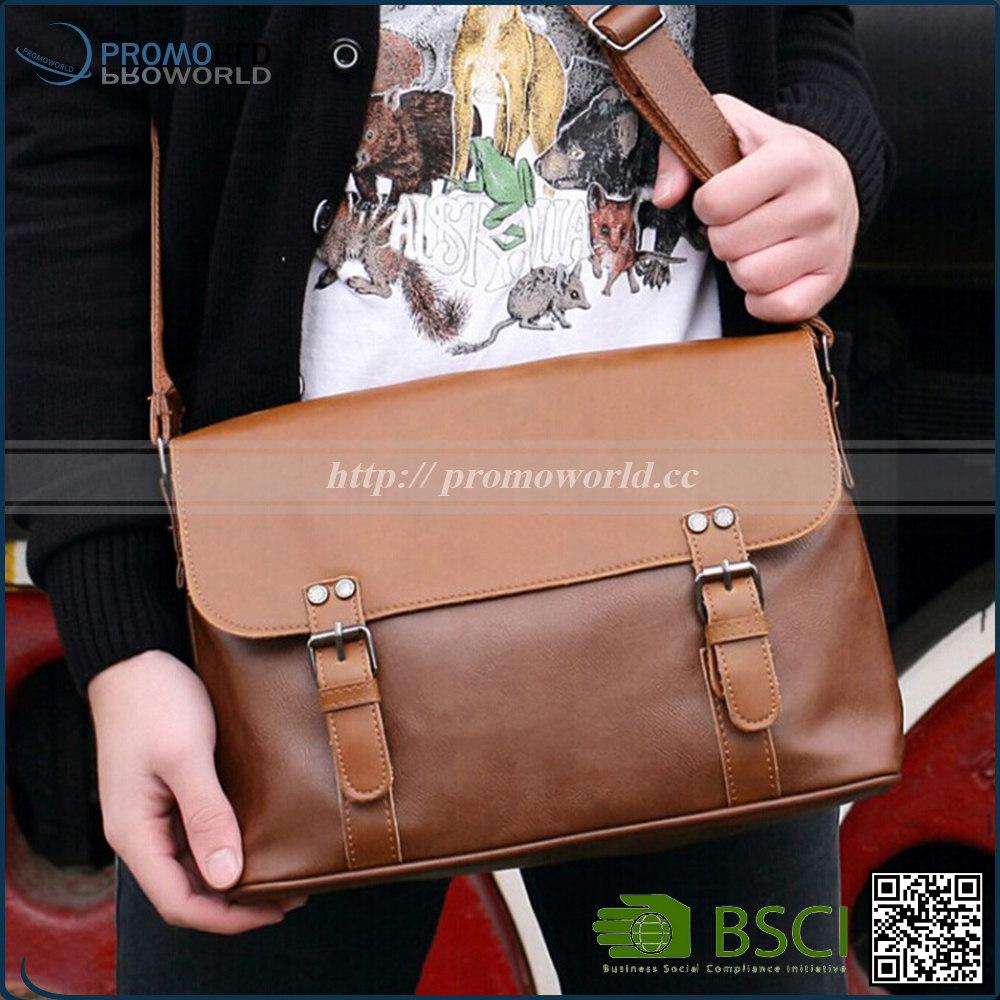 2017 Spring Collection Business Men Leather Bag For Work
