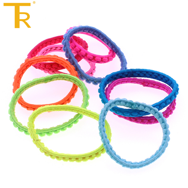 Rainbow Color Wire Telephone Hair Ties for women