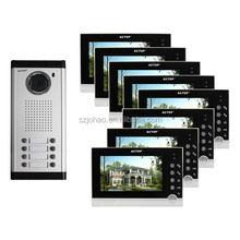 8 family video intercom door intercom video monitoring system apartment building video intercom