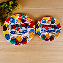 Custom Colorful Printed Disposable Paper Plate