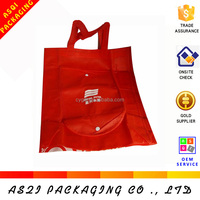 silscreen printing non woven recyclable foldable tote bag with snap closure