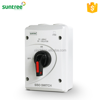 SAA High Quality DC 15A 1200V Disconnector IP66 Waterproof Isolator Switch