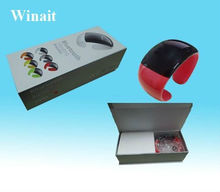 2012 In Stock Wireless bluetooth bracelet watch with vibration of incoming call and time display and anti-theft wt-18