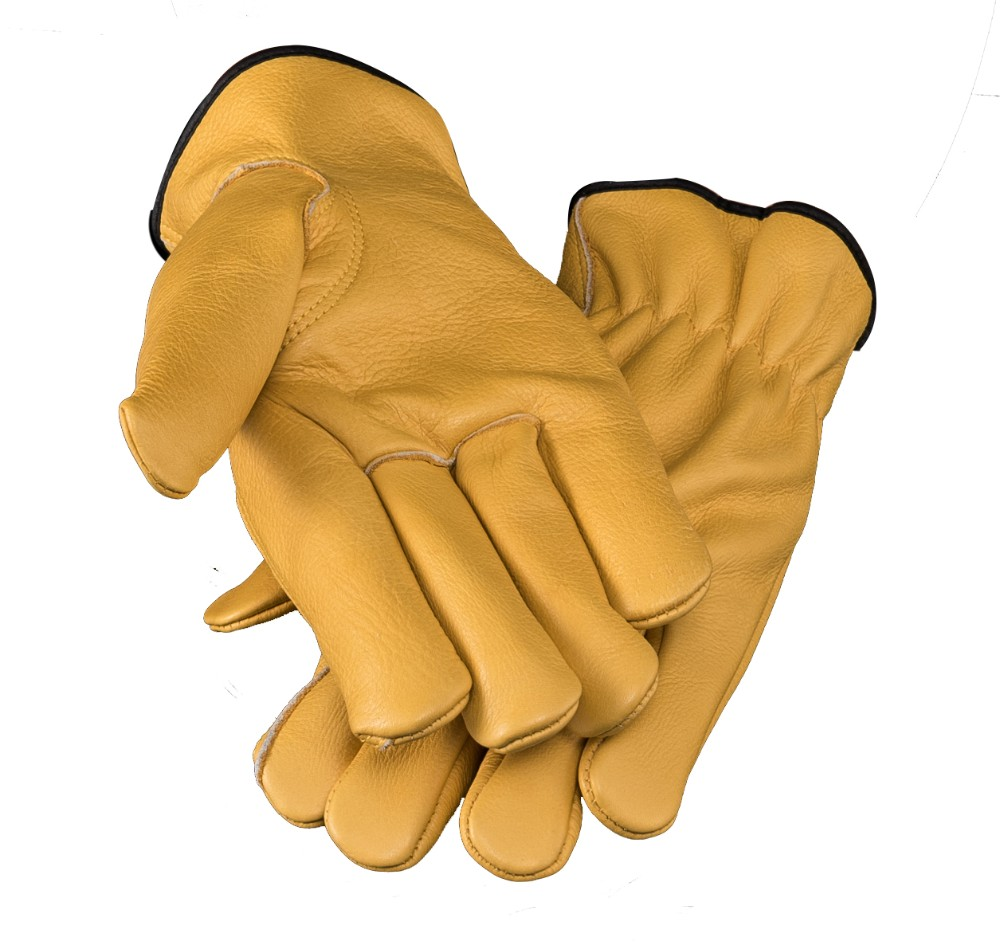 Wholesale fashion customized cleaning cut proof polyester welder's safety workwear chamois leather gloves