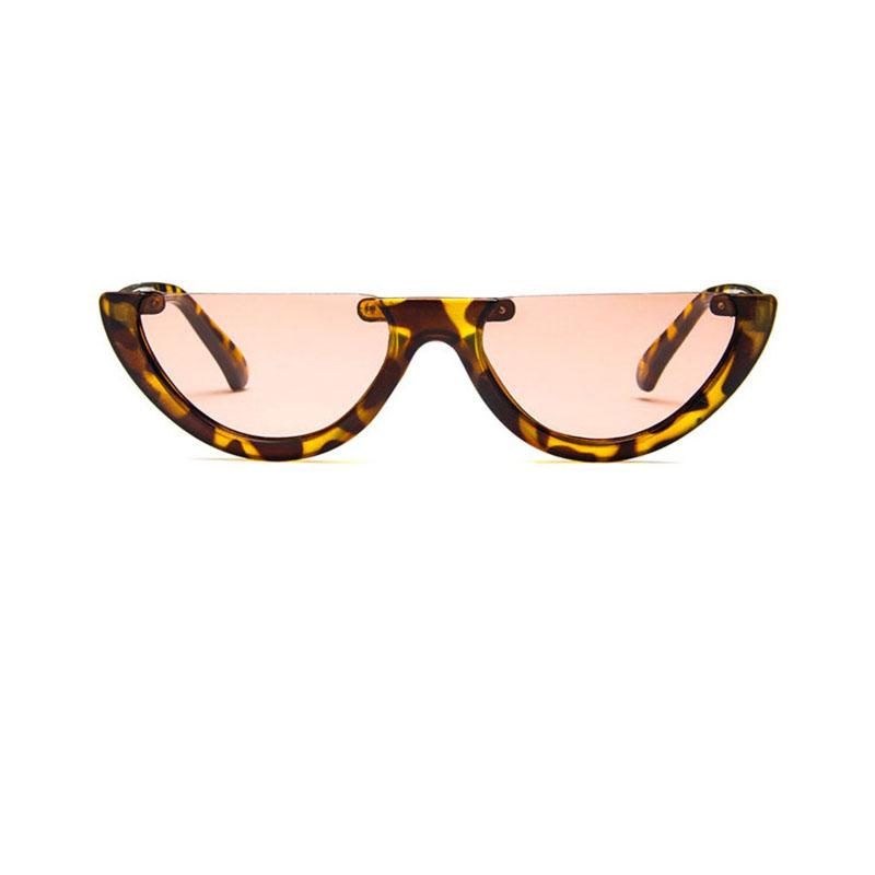 6ef96b58ea zhaoming Sunglasses Cool Trendy Half Frame Rimless Cat Eye Sunglasses Women  2018 Fashion Clear Brand Designer Sun glasses