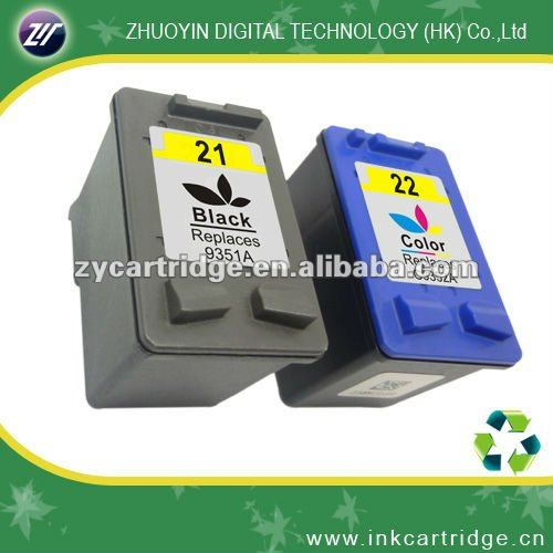 High quality printers compatible ink cartridge for hp 21 22