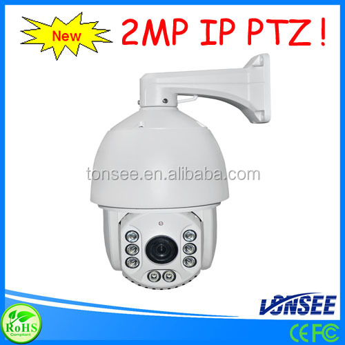 6inch 2 MP Outdoor High IP PTZ Camera auto tracking,kit camaras ip video camera Support ONVIF H.264 compression mode