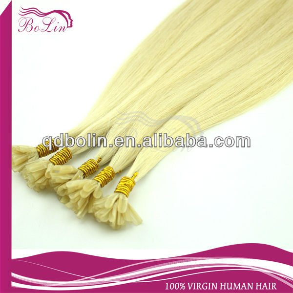 NEW style! 100% human hair tangle free shedding free 100 cheap remy u tip hair extension wholesale