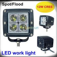 12w Square Led Work Lamp Off