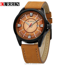 New Arrival Colorful Living Waterproof Clock Wrist Watch for Men and Women Curren 8155 Leather Simple Watch