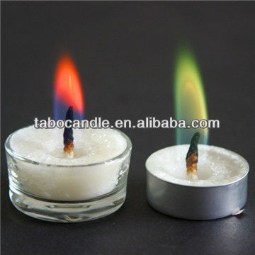glass jar color tea candle flame/6pc color flame torch lighter