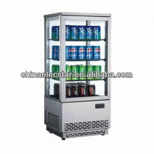 Four Sides Glass Door Display Refrigerator Showcase/beverage drink cooler/beer chiller-Curved glass door series-RT98L