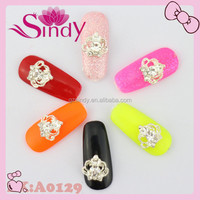 Princess Silver Crown Nail Art Jewelry Charm Lady Finger Tips Nail Jewelry On Polish Nail Gel Kit