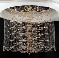 Crystal ball pendant light unique fish chandelier new popular light