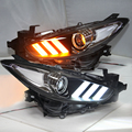 For MAZDA 3 Axela LED Head Lamps 2017 for Mustang style Moving LED turning light