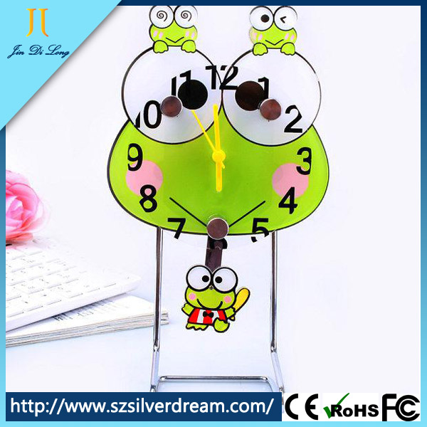 Hot sell frog shape cartoon digital desk clock