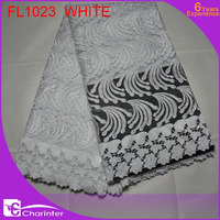 free shipping latest african french lace fabric with sequins fabric/guipure lace fabric with sequins/african lace fabric FL1023