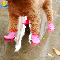 New pet product simple design rubber outdoor dog waterproof shoe