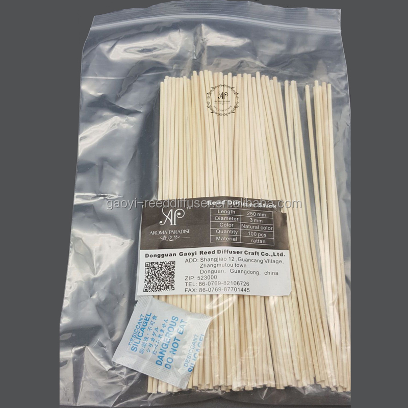 Retail 3mmx25cm 100pcs/bag reed diffuser <strong>bamboo</strong> stick