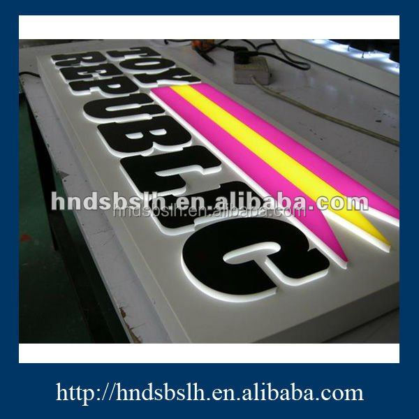 High luminous both indoor and outdoor all body lighting led acrylic sign