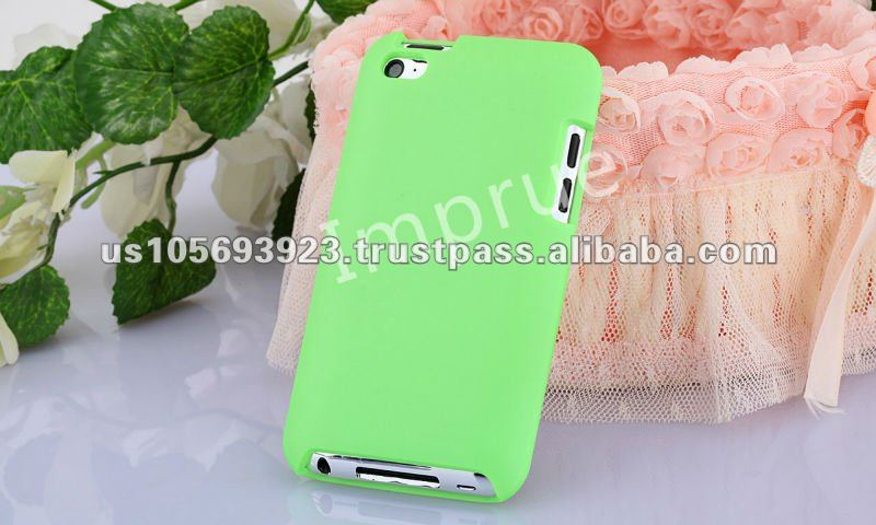 Rubberized hard case for Ipod Touch4 10 colors for choice