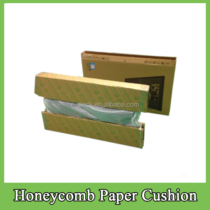 Environmental Cheap TV Packaging Carton Box Honeycomb Paper Cushion Customized Design Recyclable Packing