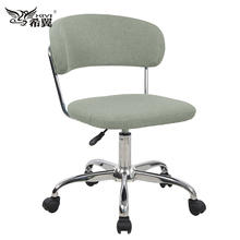 green fabric swivel guest chair office for living room