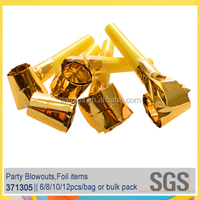 Guangdong High Quality Party Favors Solid Color Paper Noisemaker/Blowouts/Horns/Trumpets