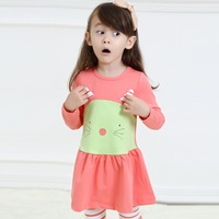 2015 Child garment beautiful girl dress with 100% cotton clothing hot selling