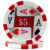 11.5 gram casino poker chips with custom design sticker labels