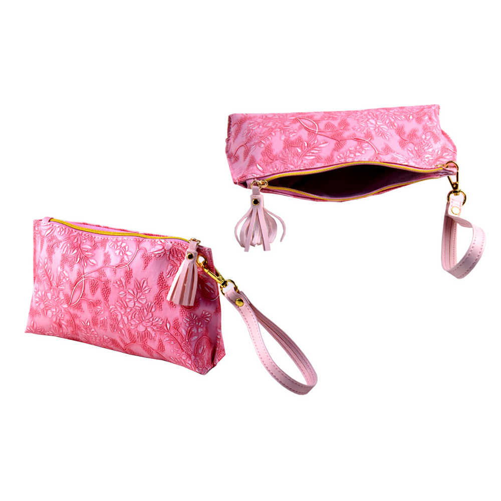 New product fashionable lady hanging toiletry pouch leather cosmetic bag