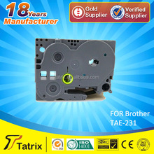 On sale! / compatible p touch tape TZe-231/TZe231/TZ231 for brother