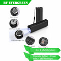 3 in 1 Multifunctional LED Flashlight Power Bank Rechargeable 18650 LED Flashlight Torch with Cigarette Smoking Lighter