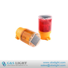 LED Solar Warning Light Flashing Red Traffic Indicator Light Barricade Lights