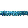 New arrival charming blue sequins lace trim for wedding dress