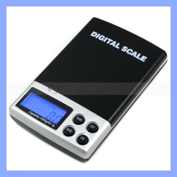 100mg Precision 1000g Capacity Desk Type Digital Pocket Scale